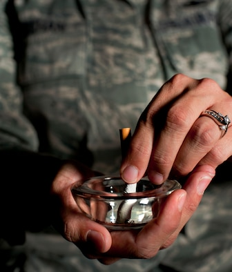 Finding, keeping focus on the motivation to quit smoking. (U.S. Air Force photo