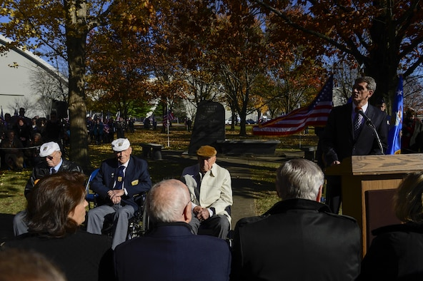 The Doolittle Tokyo Raiders paid tribute to their memorial at the National Museum of the U.S. Air Force Nov. 09, 2013 in Dayton, Ohio. The remaining raiders shared in their final toast, commemorating their historic mission and fallen wingmen.