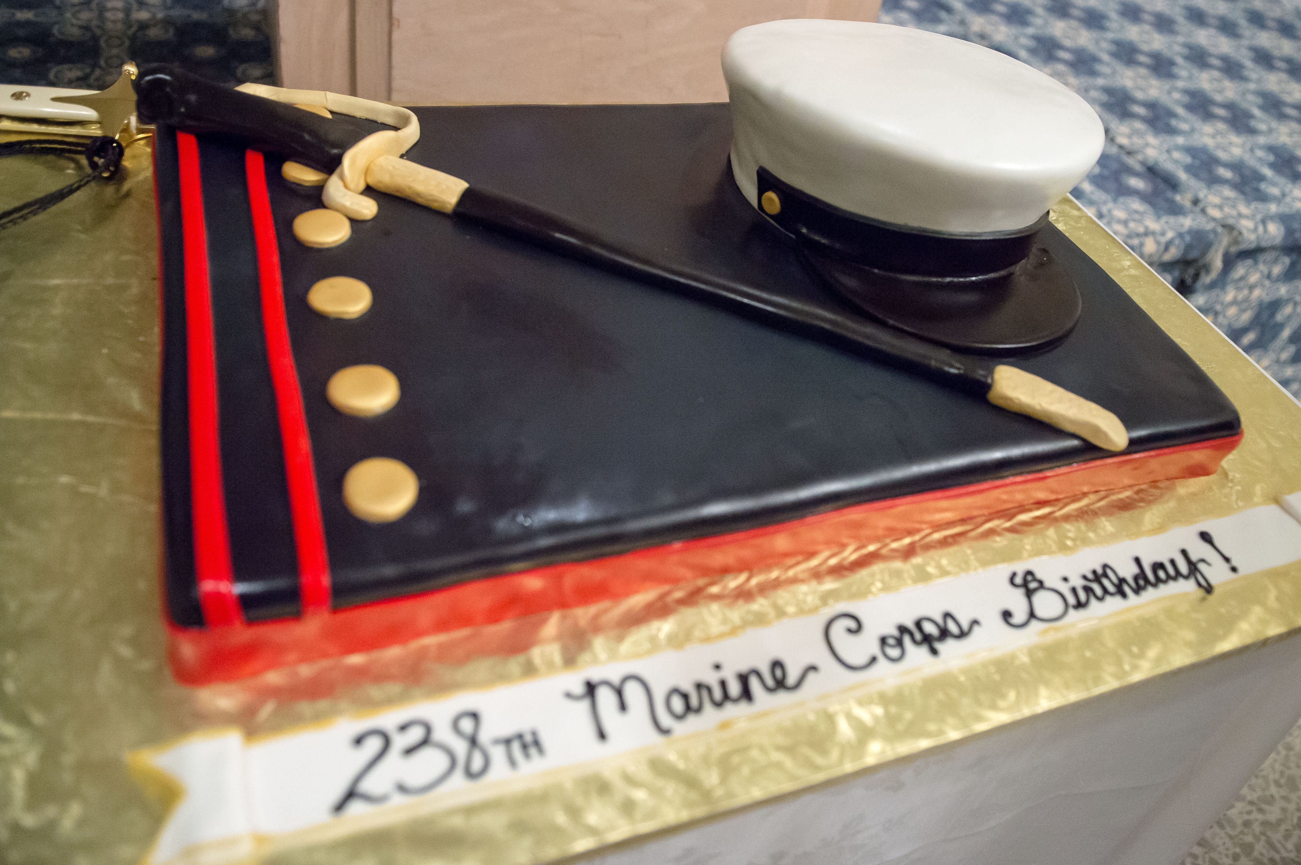 Awesome The Cake For The Marine Detachment Dam Necks Celebration For The Personalised Birthday Cards Vishlily Jamesorg