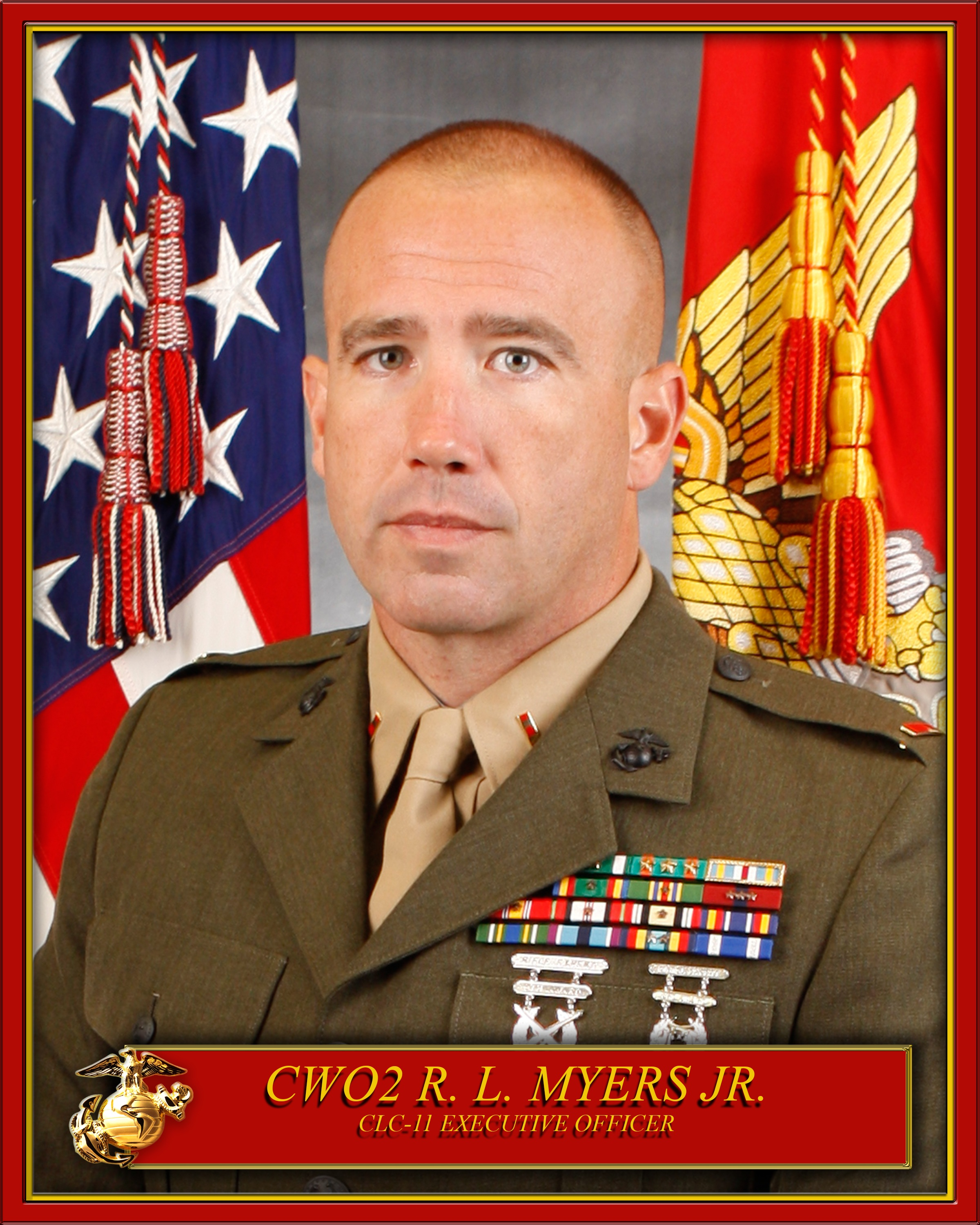 Cwo2 R L Myers Jr Gt 1st Marine Logistics Group Gt Leaders