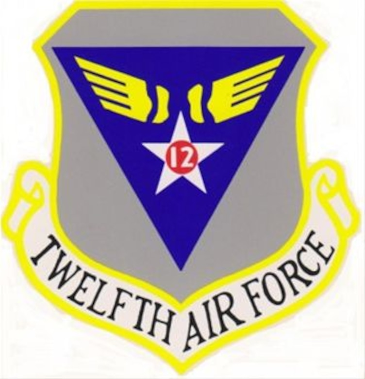 12th Air Force (Air Forces Southern) Shoulder Sleeve Insignia and Emblems.  12th Air Force Emblem May 1958 – June 1994.