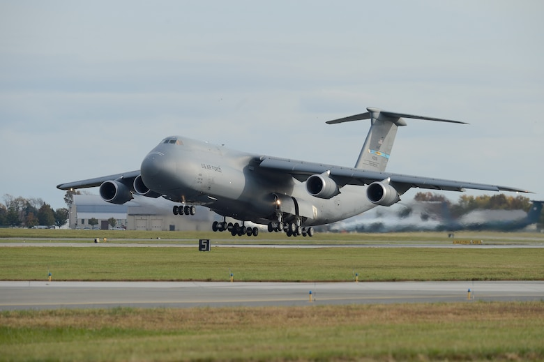 A C-5M Super Galaxy of the 9th Airlift Squadron, 436th Airlift Wing conducts aircrew proficiency training at Dover Air Force Base, Del. on Nov. 4, 2013. (U.S. Air Force photo/Greg L. Davis)