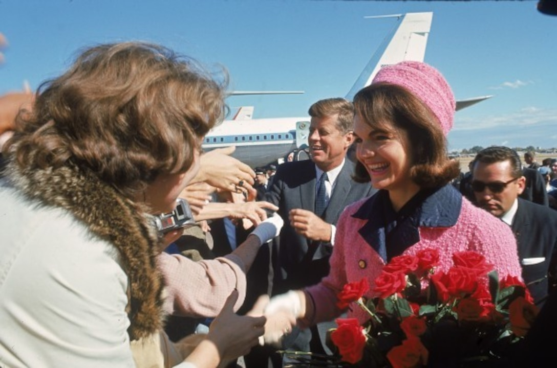 President and Mrs. Kennedy received a rousing welcome at Love Field in Dallas, Nov. 22, 1963.