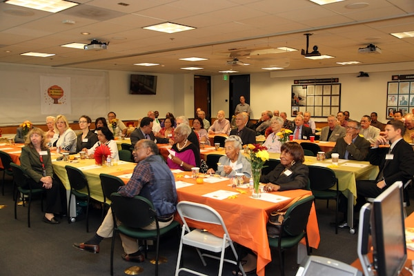 "More than 40 retired District employees responded to an invitation from Los Angeles District Commander Col. Kimberly Colloton to attend a ""State of the District"" presentation and lunch at the District headquarters Nov. 12."