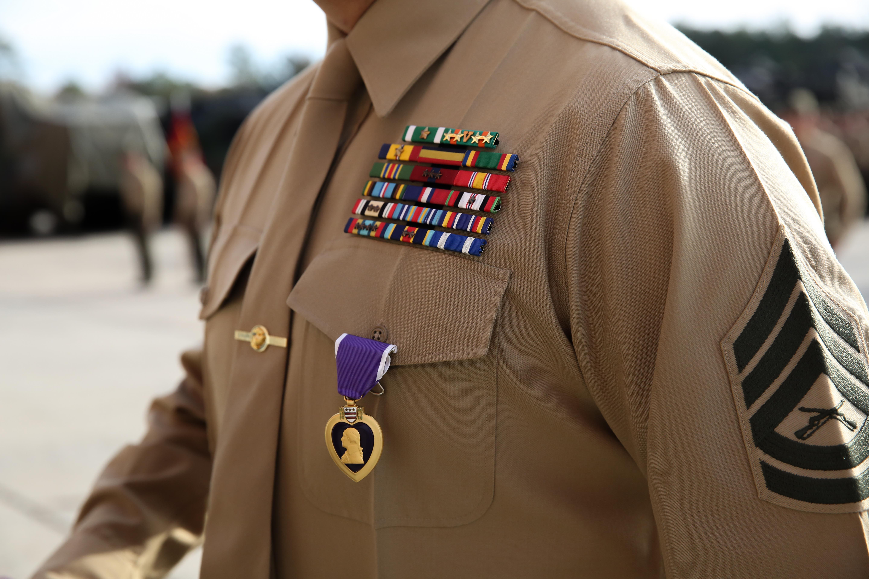 Purple Heart awarded to 2nd Assault Amphibian Bn. Marine ...