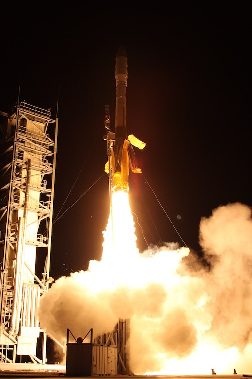 The Air Force Space and Missile Systems Center successfully launched two small satellites into orbit Nov. 19 from Wallops Island, Va., on the ORS-3 Enabler mission. (Courtesy photo)