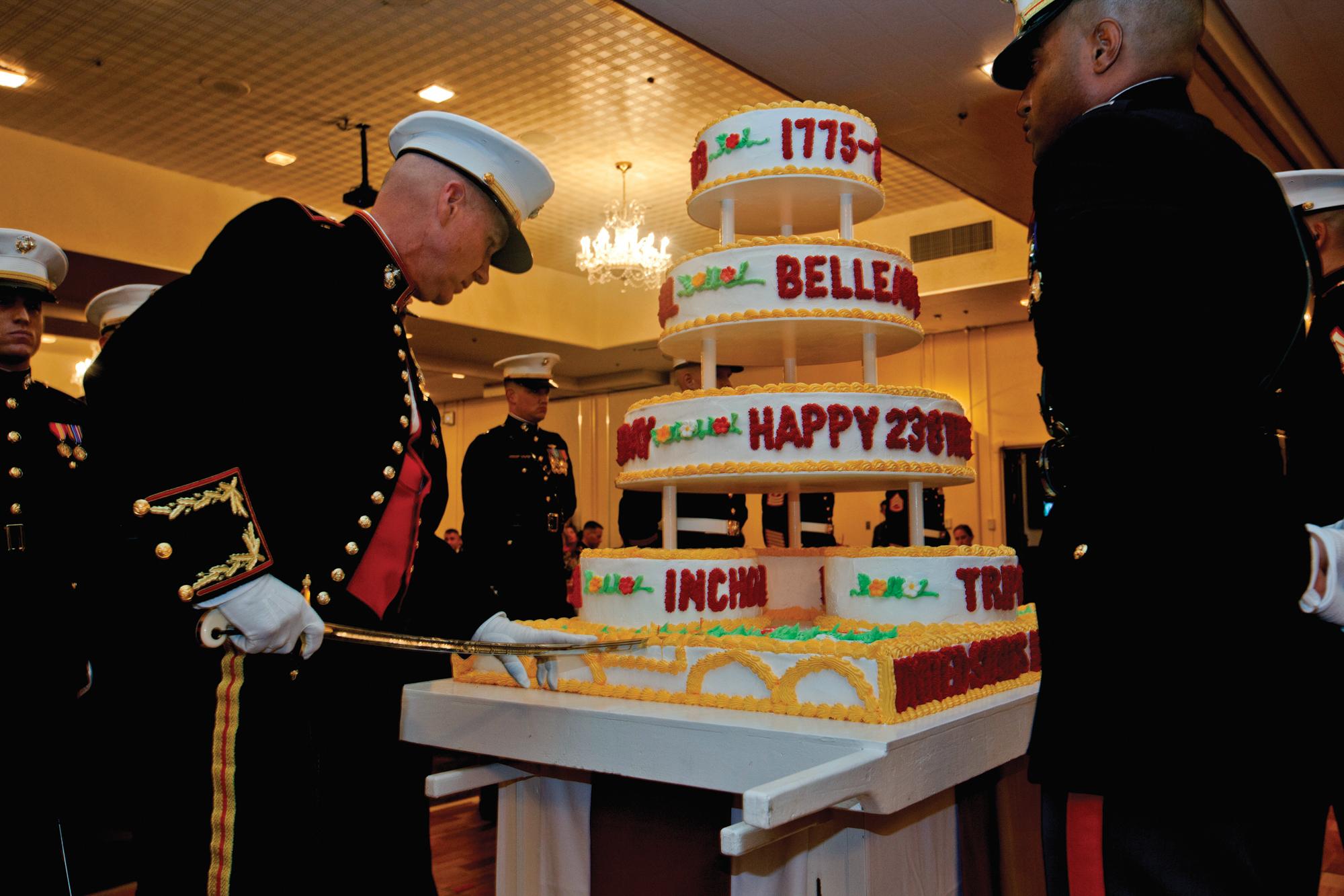 Awesome Iii Mef Mcipac Units Celebrate 238Th Marine Corps Birthday Funny Birthday Cards Online Elaedamsfinfo