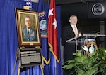 Former DIA Director retired Lt. Gen. Ronald Burgess thanks those attending his portrait unveiling ceremony at DIA Headquarters Nov. 7 for all they contributed to his success.