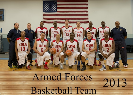 2013 Armed Forces Basketball Team Official Team Photo