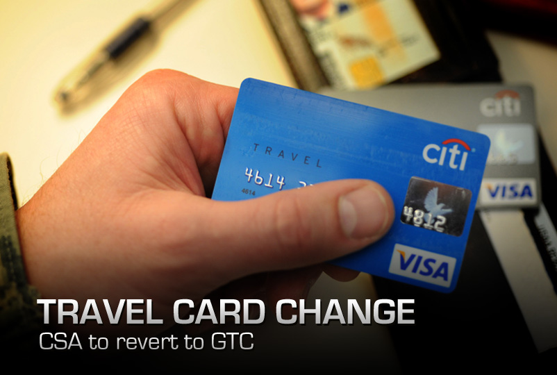 Air Force CSA travel card transitions to GTC > National Guard