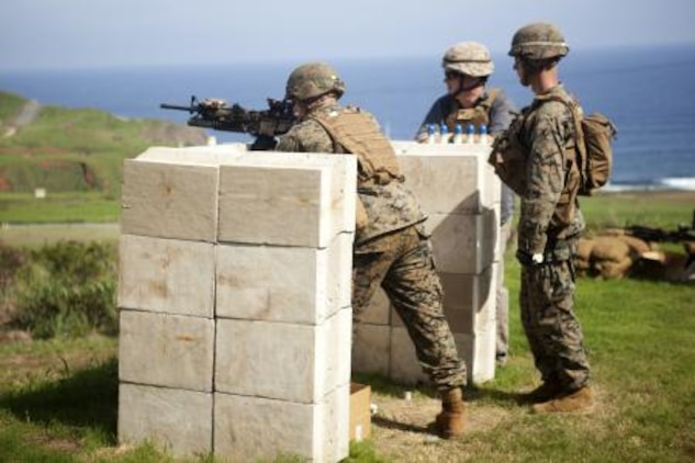 Marines from 3rd Marine Regiment conducted an M203 40 mm grenade launcher shoot with a recently developed sight as part of new equipment testing at Kaneohe Bay range training facility, Nov. 19.
