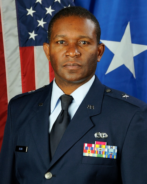 U.S. Air Force Brig. Gen. Calvin Elam, the South Carolina National Guard's Assistant Adjutant General for Air, poses for his official portrait Jan. 25, 2013.  (U.S. Air National Guard photo by Tech. Sgt. Caycee Watson/Released)