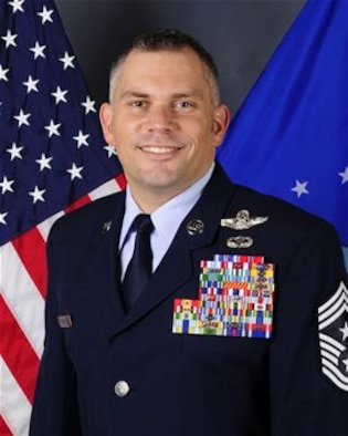 Chief Master Sgt. Thomas B. Mazzone, 6th Air Mobility Wing command chief.