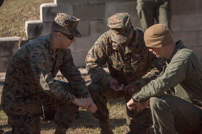 Explosive ordnance technicians, along with various other military occupational specialties, participate in monthly sustainment training to be as technically proficient as possible in dealing with explosives.