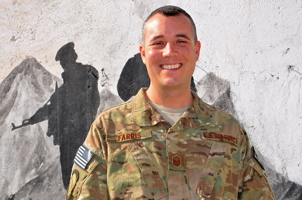 Master Sgt. Tim Farris, NATO Air Training Command-Afghanistan maintenance advisor, received a phone call from President Barack Obama on Thanksgiving, Nov. 28, 2013, to thank him for his service and dedication as he nears completion of a year-long deployment to Kabul, Afghanistan. As a maintenance advisor to the Afghan Air Force, Farris is responsible for training and advising the members of the AAF as they move towards creating a sustainable and independent air force. (U.S. Air Force photo/Capt. Anastasia Wasem)