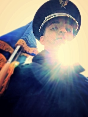 U.S. Air Force Airman 1st Class John Nieves Camacho, 4th Fighter Wing Public Affairs photojournalist, recently completed a three-month commitment to the 4th FW Honor Guard. Honor guardsmen primarily perform military honors at official base functions and Service member's funerals. To volunteer for the 4th FW Honor Guard, call 919-722-7019. (U.S. Air Force photo by Airman 1st Class John Nieves Camacho)