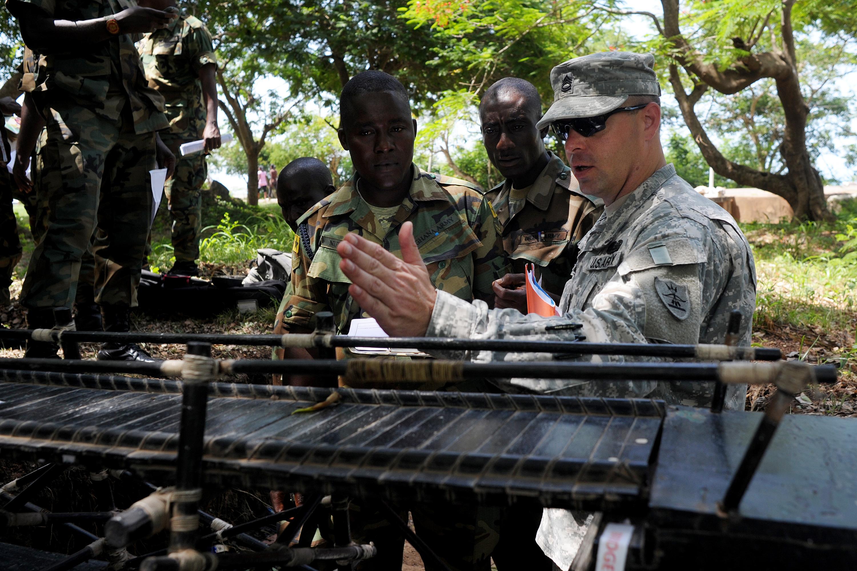 ghana  north dakota engineers work with ghanaian army