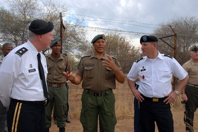 Good Army Sgt. Major Kamodi, Noncommissioned Officer In Charge Of The Botswana  Defence Force Wildlife