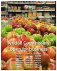 Tyndall's commissary reopens with normal operating hours. (U.S. Air Force graphic illustration by Airman 1st Class Alex Echols)