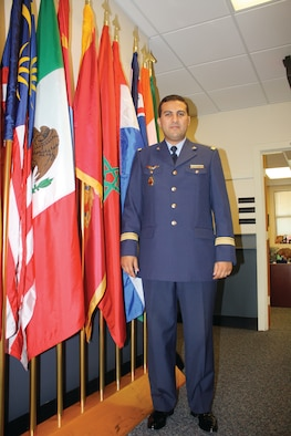 Following in past footsteps, Capt. Saihi, an officer in the Royal Moroccan Air Force, is attending IOS and then Squadron Officer School at Maxwell, just as his father, Ahmed Saihi, did three decades earlier. (Courtesy photo)