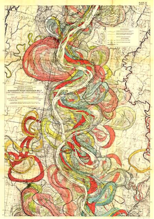 Fisk Map of Mississippi Meander Belt