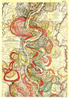 Fisk Map of Mississippi Meander Belt