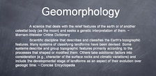 Definition of Geomorphology from Concise Encyclopedia