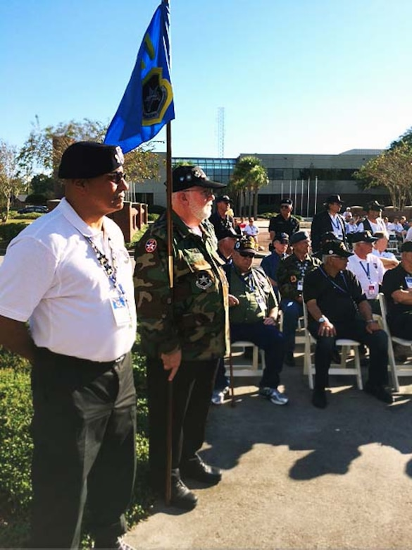 Members of the Vietnam Security Police Association gather for a reunion at a retreat ceremony held October 15, 2013, at Joint Base Charleston – Air Base, S.C. The Vietnam Security Police Association is a team of former active-duty Air Force Security Police members who served in Vietnam during the Vietnam War. (Courtesy photo)