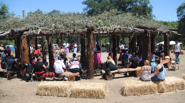 "The Dry Creek Rancheria Band of Pomo Indians hosted 10 Northern California tribes for a ""Big Event"" at their new redwood brush arbor July 27 at Lake Sonoma."
