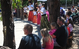 """Dancers perform in front of crowds during a """"Big Event"""" hosted by the Dry Creek Rancheria Band of Pomo Indians July 27 at Lake Sonoma."""