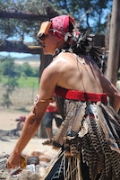"A dancer performs in front of a crowd during a ""Big Event"" hosted by the Dry Creek Rancheria Band of Pomo Indians July 27 at Lake Sonoma."