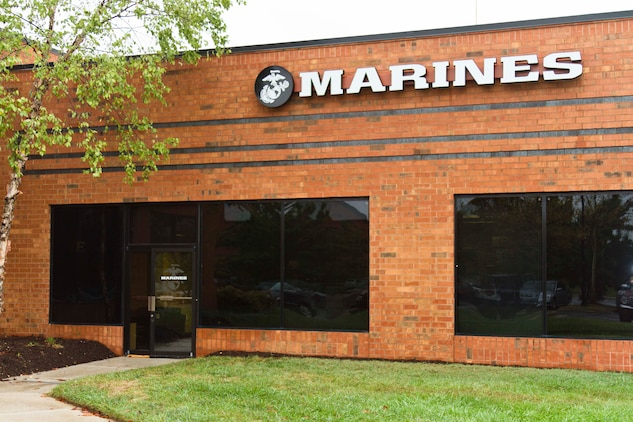 Marine Corps Recruiting Station Baltimore recently moved its headquarters to a new location in Hanover, Md., Sept. 25, 2013. The move to 1334 Ashton Road was necessary due to cost of repairs for their old building, safety concerns and more predominant location.  (U.S. Marine Corps photo by Cpl. Bryan Nygaard/Released)