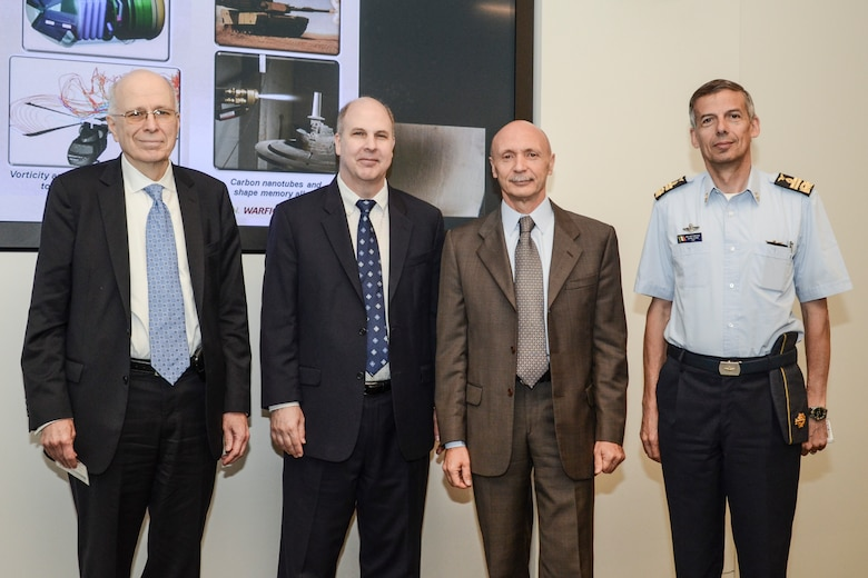 Basic research collaboration at the Air Force Office of Scientific Research (AFOSR) and the Embassy of Italy technical exchange meeting in held in Arlington, Va.