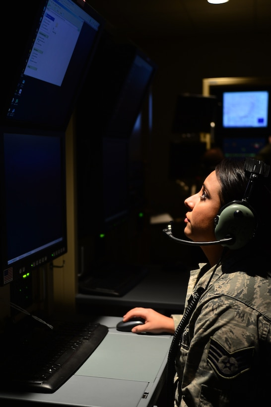 Staff Sgt. Tabitha views a video feed from an MQ-1 Predator as the wing passed the 2 million flying hour milestone Oct. 22, 2013. The wing's 2 million hour mark was achieved culminating in more than 215,000 total missions completed and nearly 94 percent of all missions flown in support of major combat operations. Tabitha is a 432nd Wing/432nd Air Expeditionary Wing mission intelligence coordinator.