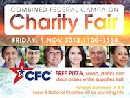 The Combined Federal Campaign charity fair will take place 11 a.m. to 1:30 p.m. on Nov. 1 at the Horizons Community Center, Ballrooms A and B. (Courtesy image)