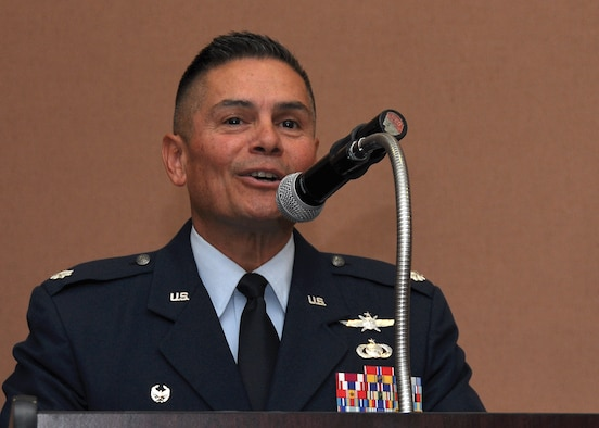 Lt. Col. Robert Garcia assumes command as the 38th Intelligence Squadron's first commander today, Beale Air Force Base, Calif. The 38th IS provides real time intelligence support to ground forces world-wide. (U.S. Air Force photo by Tech Sgt. Heather Skinkle)