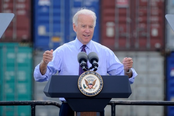 Vice President Joe Biden visited the Port of Charleston as part of his tour of ports along the eastern seaboard.