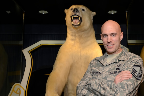 Senior Master Sgt. Joshua Franklin poses for the camera inside the Alaskan Command Headquarters, Joint Base Elmendorf-Richardson, Oct. 28. Franklin was selected as the National Safety Council Rising Stars of Safety from more than 110 nominees working in a variety of industries representing four different countries. Franklin is a native of Ithaca, N.Y., and is assigned to the 11th Air Force Ground Safety. (U.S. Air Force photo/Staff Sgt. Sheila deVera)