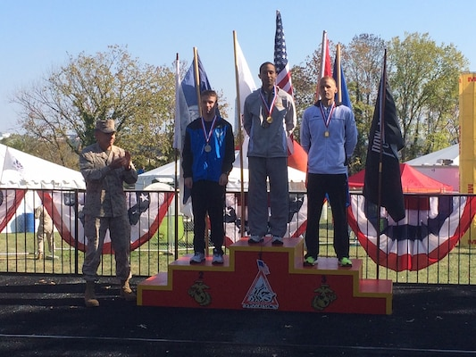 2013 Armed Forces Mens Marathon Individual Medalists:  1st- LT Patrick Fernandez (USCG; All-Navy) Yorktown, , VA – 2:22:52; 2nd- 1st Lt Timothy Richard (USAF) Little Rock AFB, AR – 2:25:57; 3rd- 2LT Jacob Buhler (Army) Oklahoma City, OK – 2:27:08
