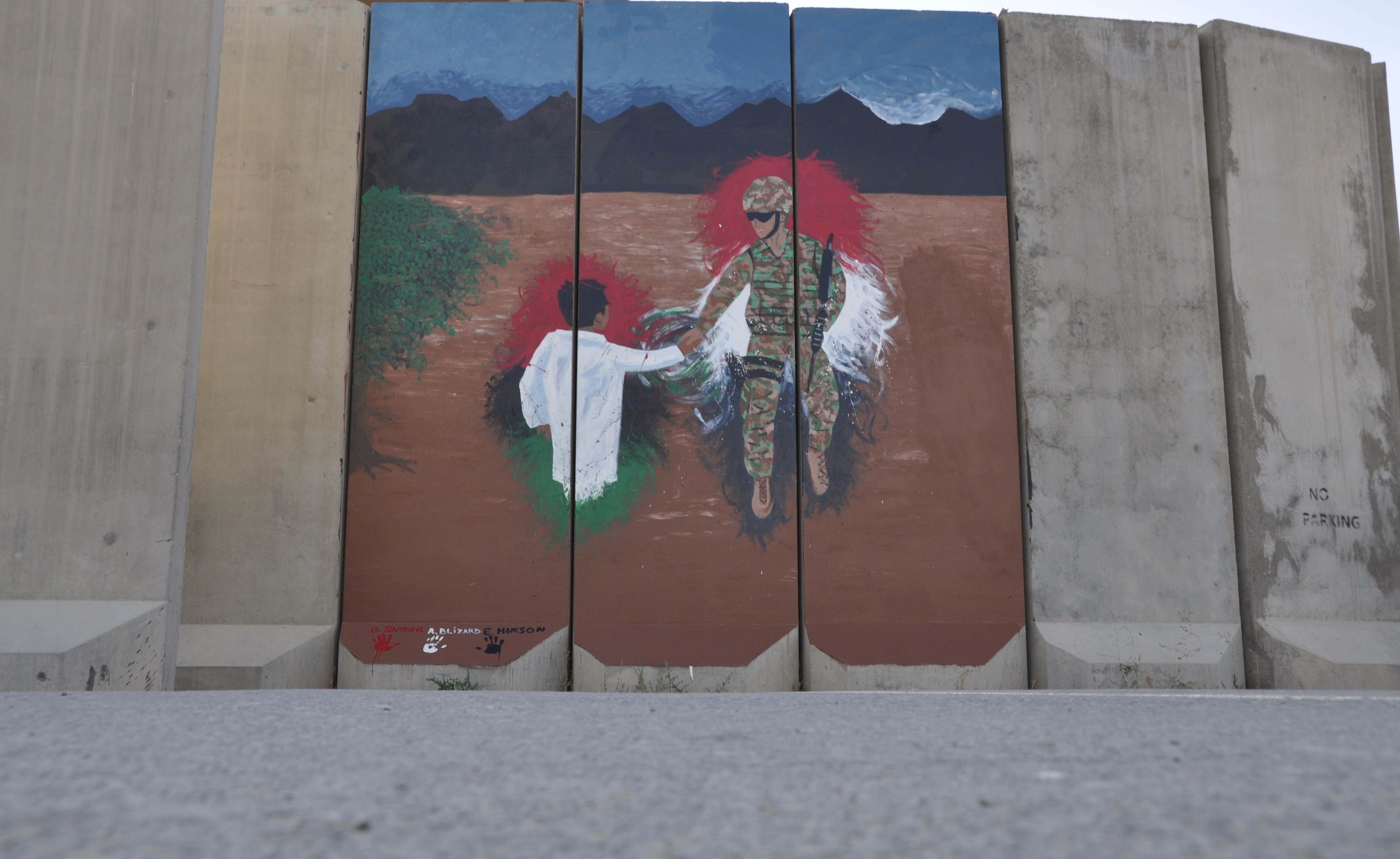Airmen Paint Mural Create Lasting Impression Us Air Force