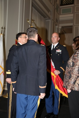 ST. PAUL, Minn. -- Col. Daniel C. Koprowski, assumes command of the St. Paul District during a ceremony at the district headquarters in St. Paul, Minn., June 19.