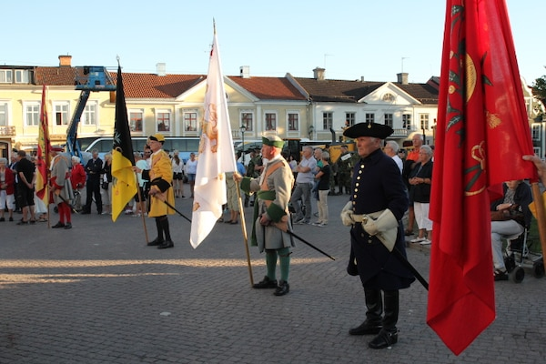 Opening Ceremony of the 2013 CISM World Orienteering Military Championship in downtown Eksjo, Sweden