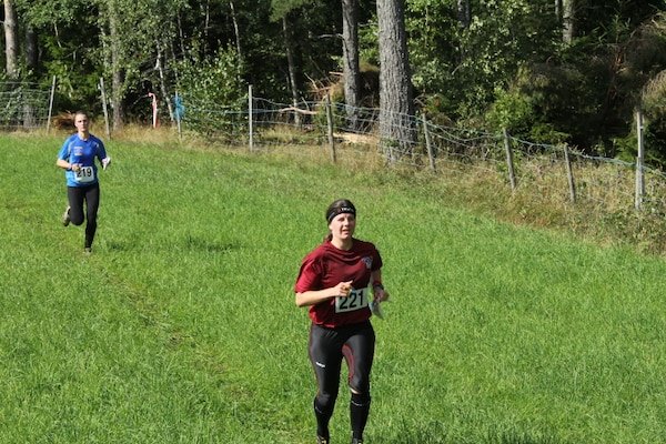 Maj Maiya Anderson (USAF) at the 2013 CISM World Orienteering Military Championship hosted by the Swedish Armed Forces in Eksjo, Sweden from 26 August to 1 September.