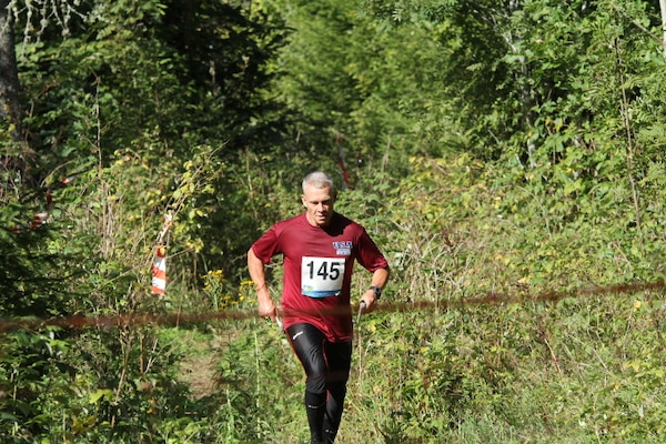 CDR Grant Staats (Navy) at the 2013 CISM World Orienteering Military Championship hosted by the Swedish Armed Forces in Eksjo, Sweden from 26 August to 1 September.