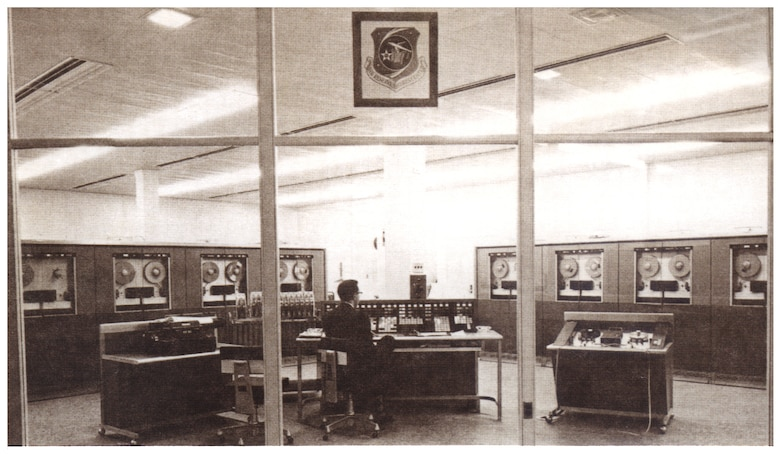 The RCA 501 transistorized electronic data processing system was installed at the Air Reserve Records Center Oct. 31, 1959, at the York Street building in Denver, Colo. This computer, which took up space of an entire room, was the first one of its kind west of the Mississippi River, costing $212,000 and had a 32K processing capability.