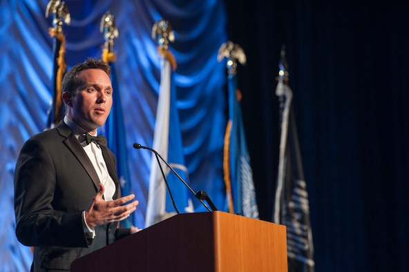 Acting Secretary of the Air Force Eric Fanning speaks to the audience of the 2013 Air Force Sergeants Association Professional Airmen's Conference and International Convention Aug. 28, 2013 at the Grand Hyatt in San Antonio, Texas.  Fanning was the guest speaker at the Air Force banquet and spoke about his experiences during the two months he's been the acting SecAF. (U.S. Air Force photo/Senior Airman DeAndre Curtiss)