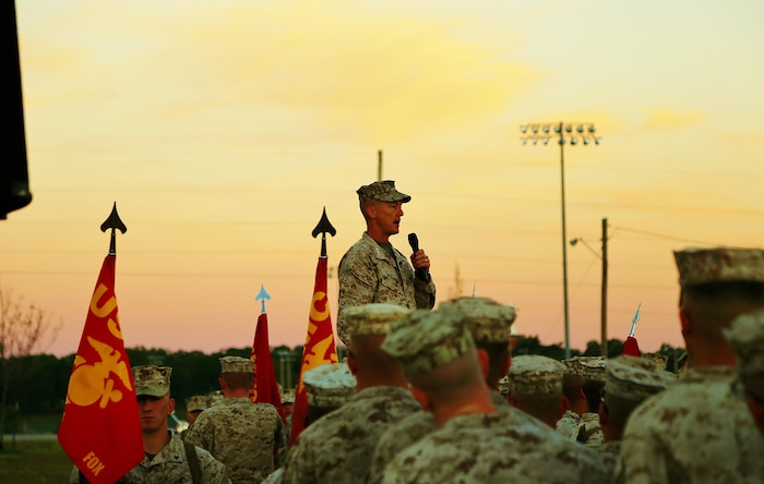 Lieutenant General William M. Faulkner, Deputy Commandant for Installations and Logistics, paid a very special visit to the Marines of Fort Leonard Wood.