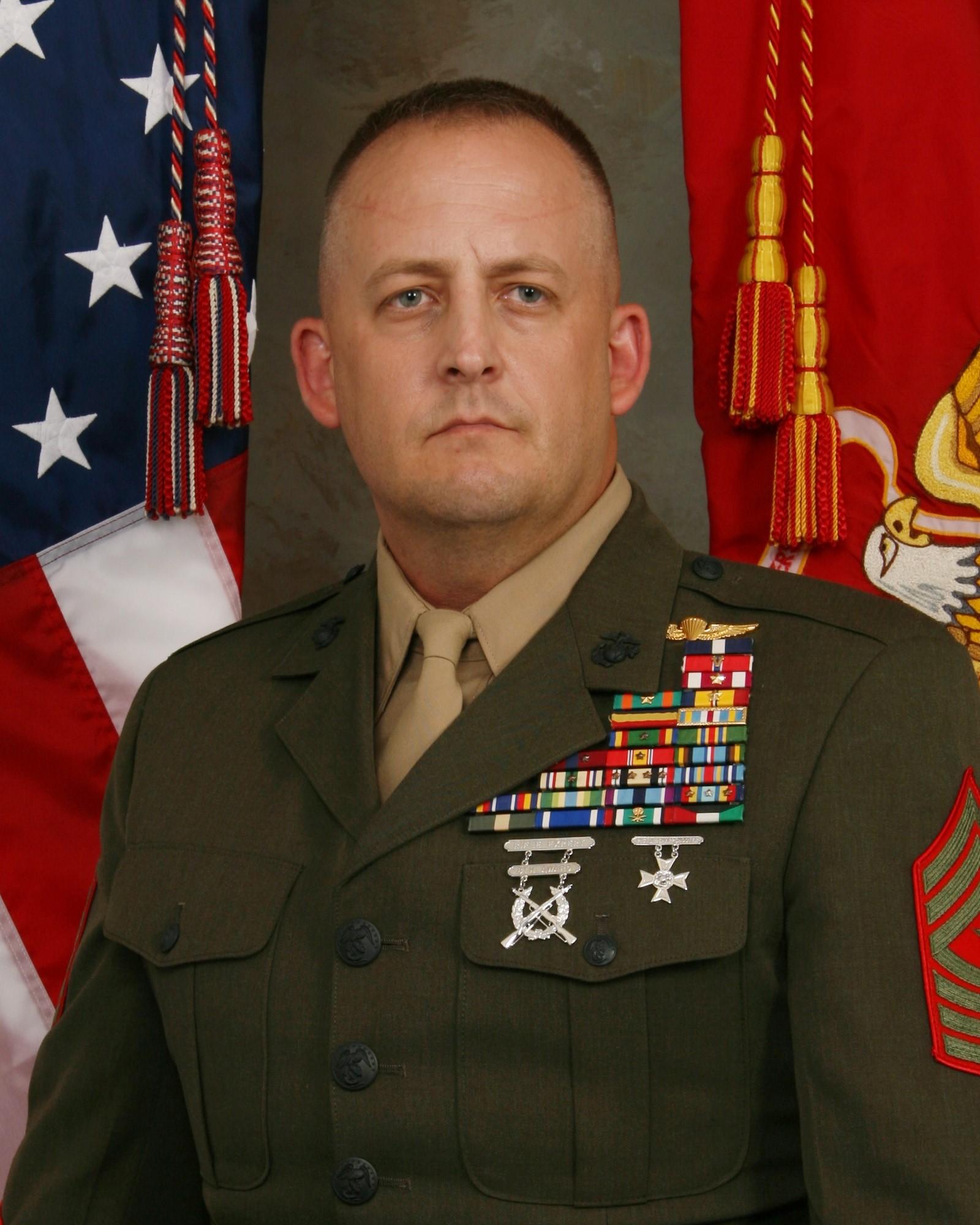 Sergeant Major Justin D Lehew Gt Marine Corps Training And
