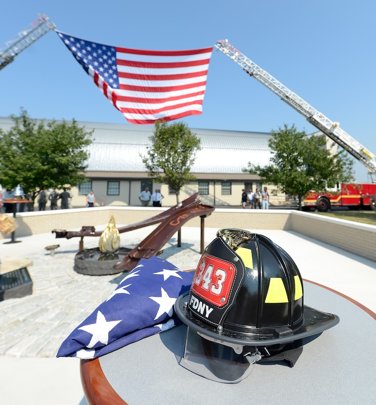 A new a memorial to those killed on Sept. 11, 2001 was dedicated Sept. 11, 2013, at Dover Air Force Base, Del. The memorial, which incorporates two pieces of steel from World Trade Center tower one, a rock from the United Airlines Flight 93 crash site and a block from the damaged portion of the Pentagon, makes Delaware the 50th and final state to have a public memorial. The steel was acquired through the Port Authority of New York and New Jersey World Trade Center steel program.