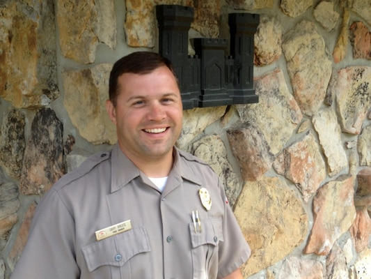 Park Ranger Gary Bruce, a conservation biologist at Center Hill Lake, is the U.S. Army Corps of Engineers Nashville District Employee of the Month for April 2013.